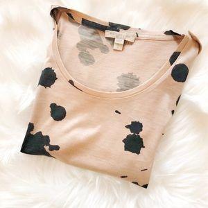 Burberry Brit Animal/Paint Splatter Top Shirt